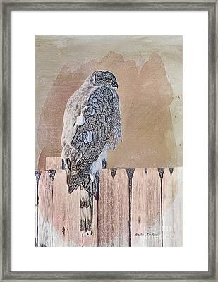 Waiting For Mr. Goodbird Framed Print by Betty LaRue