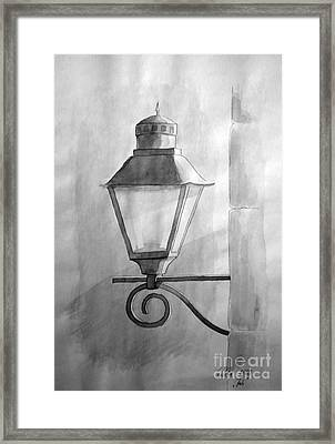 Framed Print featuring the painting Waiting For Night by Eleonora Perlic