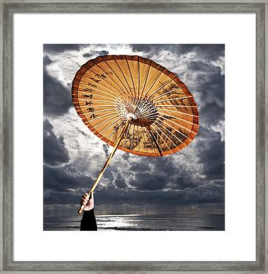 Waiting For Rain Framed Print by Larry Butterworth