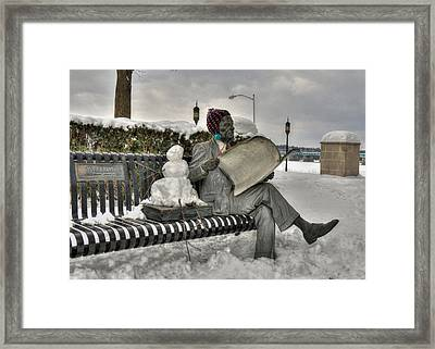 Waiting For Spring Framed Print by Lori Deiter