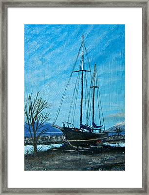 Waiting For Springtime. Framed Print