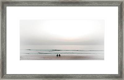 Waiting For Sunrise Framed Print by Christy Usilton