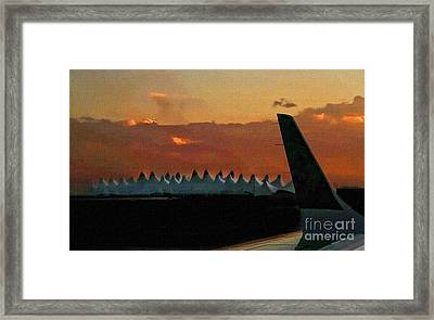 Waiting For Take-off Framed Print by Clare VanderVeen