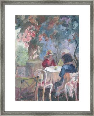Waiting For Tea Framed Print by Susan Richardson