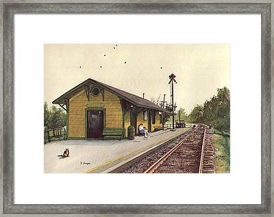Waiting For The Black River And Western Framed Print