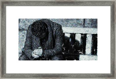 Waiting For The Bus Framed Print by Jim Pavelle