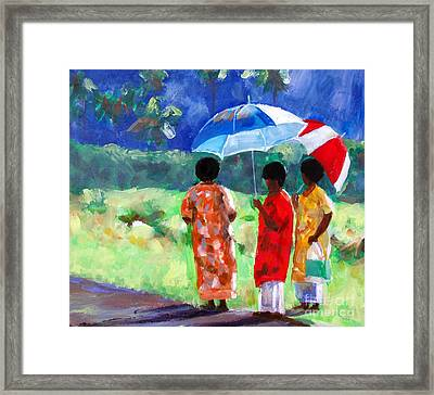 Waiting For The Bus Framed Print