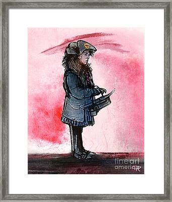 Waiting For The Bus Framed Print by William Rowsell