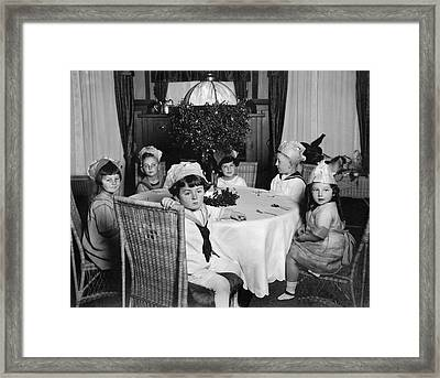 Waiting For The Cake Framed Print by Underwood Archives