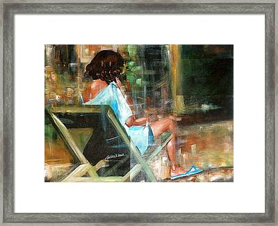 Waiting For The Call Framed Print by Laurend Doumba