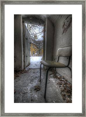 Waiting For The Cold War Framed Print by Nathan Wright