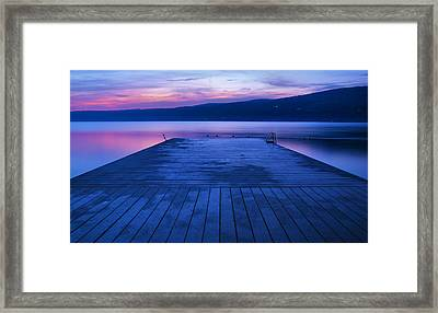 Waiting For The Dawn Framed Print by Steven Ainsworth