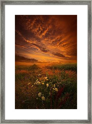 Waiting For The Day To Begin Framed Print by Phil Koch