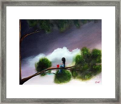 Waiting For The End Of Time By Shawna Erback Framed Print by Shawna Erback
