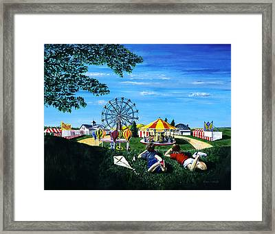 Waiting For The Fair Framed Print