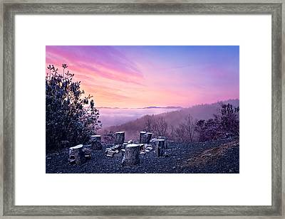 Waiting By The Fire Framed Print