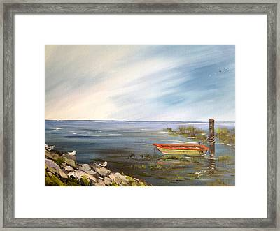 Waiting For The Fisherman Framed Print by Dorothy Maier