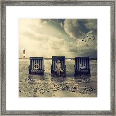 Waiting For The Flood Framed Print