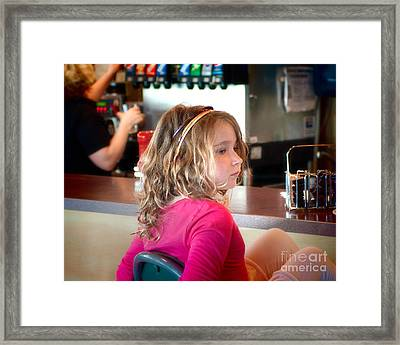 Framed Print featuring the photograph Waiting For The Grown-ups by Sandi Mikuse