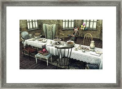 Waiting For The Guests Framed Print by Jutta Maria Pusl