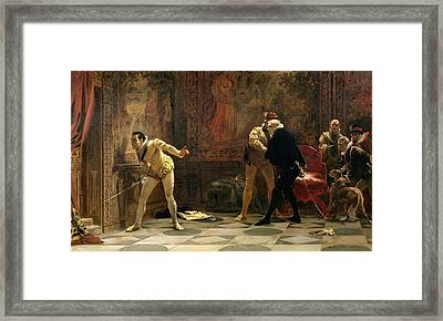 Waiting For The Kings Favourite, 1877 Framed Print