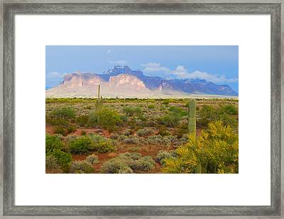 Framed Print featuring the photograph 16x20 Canvas - Superstition Mountain Light by Tam Ryan