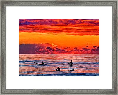 Waiting For The Next Set Framed Print by Michael Pickett