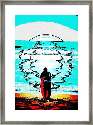 The Wave Framed Print by Lisa McKinney
