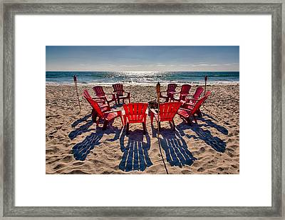 Waiting For The Party Framed Print by Peter Tellone