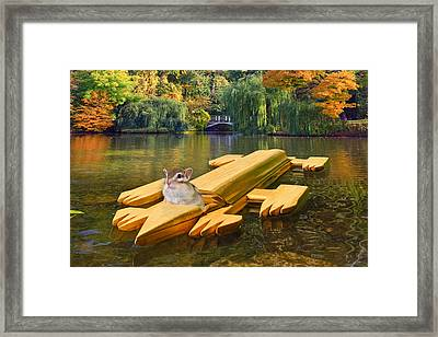 Waiting For The Race Framed Print by Chipmunk