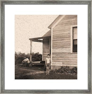 Waiting For The Rain Wataga Illinois 1944 Framed Print