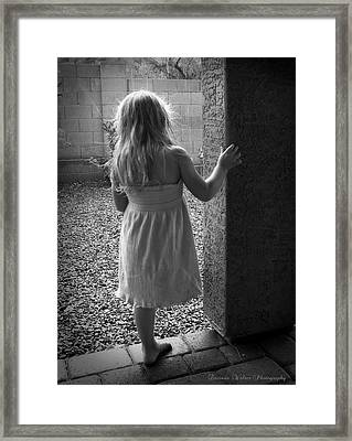 Framed Print featuring the photograph Waiting For The Rain To End  by Lucinda Walter