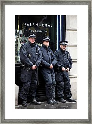 Waiting For The Riots Framed Print by Jez C Self