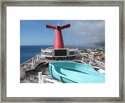 Waiting For The Slide Framed Print by French Toast