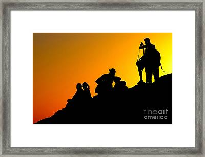 Waiting For The Sun Framed Print by Hannes Cmarits