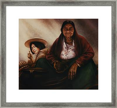 Waiting For The Sunset Framed Print by Yvonne Wright
