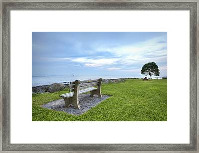 Waiting For The Supermoon Framed Print by Eric Gendron