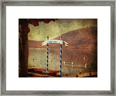 Waiting For The Taxi Boat Framed Print by Barbara Orenya