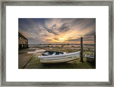 Waiting For The Tide Framed Print by Jacqui Collett