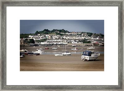 Waiting For The Tide Framed Print by Pennie  McCracken