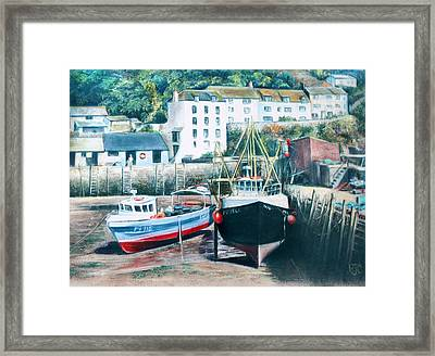 Waiting For The Tide Framed Print by Rosemary Colyer