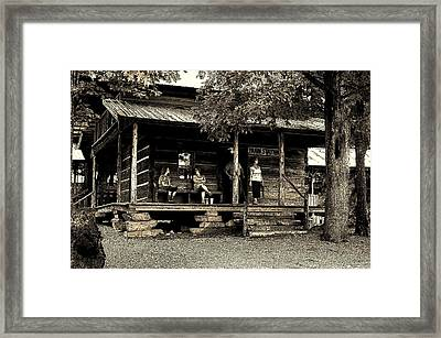 Waiting For The Train Framed Print by B Wayne Mullins
