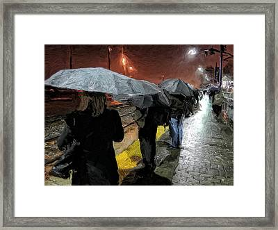 Waiting For The Train Framed Print by Michael Pickett