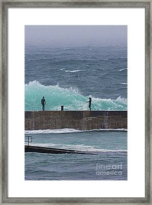 Waiting For The Wave Framed Print by Terri Waters