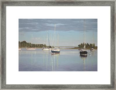 Waiting For The Wind Framed Print by Julia O'Malley-Keyes