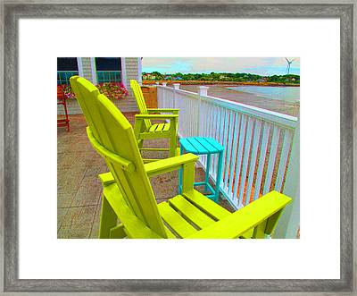 Waiting For Tide And Sunset Framed Print