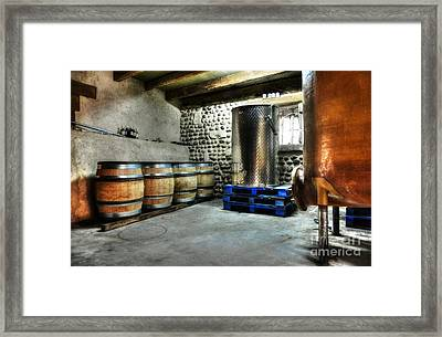 Waiting For Wine Framed Print by Mel Steinhauer