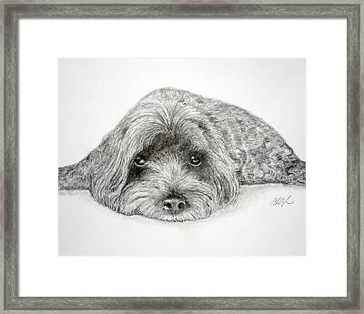 Framed Print featuring the drawing Waiting For You by Chris Fraser