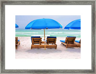 Panama City Beach Digital Painting Framed Print