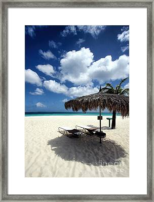 Framed Print featuring the photograph Waiting For You In Aruba by Polly Peacock